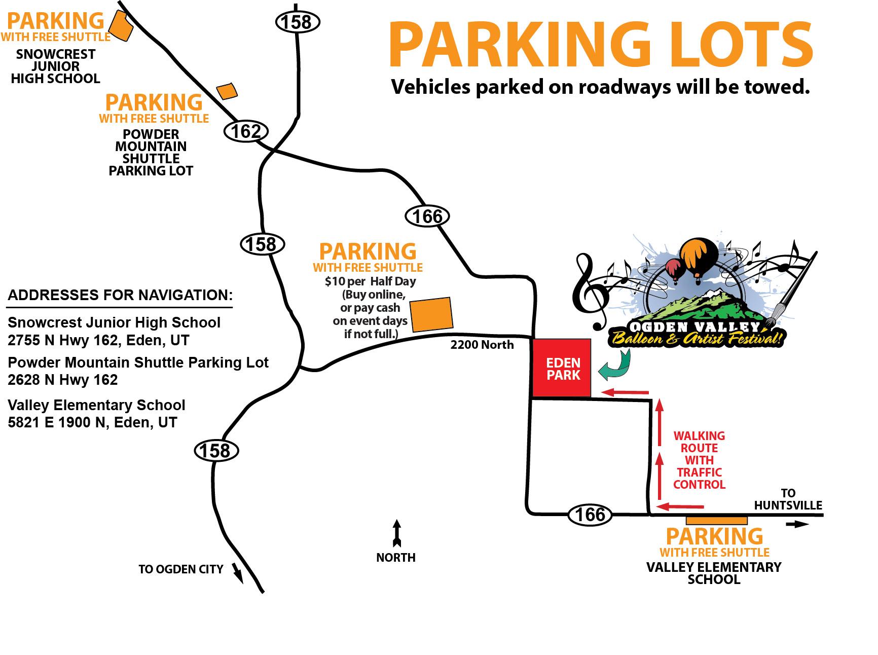 Balloon Fest Parking Map